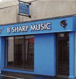 B Sharp Music Storefront